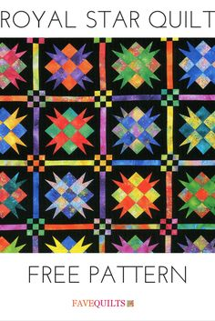 This quilt is so vibrant and gorgeous. It reminds me of stained glass!