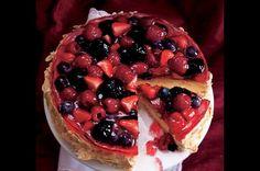 Ovocný dort se želé | Apetitonline.cz Pavlova, Fruit Salad, Waffles, Food And Drink, Pie, Baking, Breakfast, Recipes, Cakes
