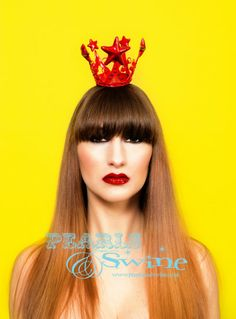 Nova Eva – Red Star Crown, Virgin Mary, Religious Headwear, Religion, Iconography, Deity, Rock n Roll Bride, Mini Hat, Prom Queen, Races, Burlesque, Halloween, Dressing Up, Glamorous, Crown of Stars, Fashion, Accessories Designer, Milliner, Millinery, Headpiece, Headwear, Pearls and Swine, Pearls & Swine