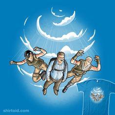 Falling   Shirtoid #deadpool #film #marvelcomics #movies #peter #skydiver #skydiving #trheewood #xforce