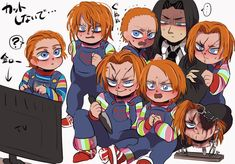 Scary Movie Characters, Scary Movies, Horror Movies, Chucky Horror Movie, Childs Play Chucky, Slasher Movies, Funny Horror, Horror Icons, Art Memes