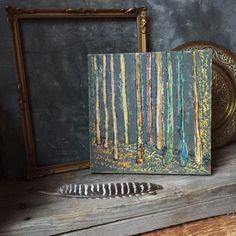 Forest Landscape Original Acrylic Painting Canadian Landscape Art,... ($155) via Polyvore featuring home, home decor, wall art, forest home decor, landscaping trees, acrylic wall art, tree wall art and tree paintings