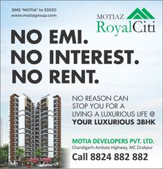 No Reason can stop you for a living a Luxurious life #MotiazRoyalCiti. To know more connect us on 8824882882