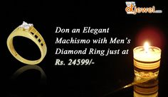 Don an Elegant Machismo with men's Diamond ring...