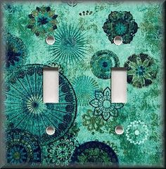 Trends In Turquoise Switch Plate Covers by lunaswitchplates