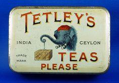 Tetley's Tea tin
