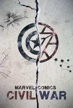 civil war marvel poster - Pesquisa Google