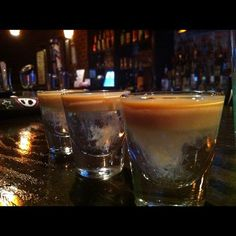 Buttery Nip Slip 1 oz. Butterscotch Schnapps 1/2 oz. Irish Cream Pour the butterscotch into a shot glass then pour the Irish cream on top using the back of a spoon.