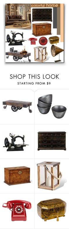 """""""Home #3"""" by forgoszel ❤ liked on Polyvore featuring interior, interiors, interior design, home, home decor, interior decorating, Kotobuki, Bloomingdale's, Jonathan Charles Fine Furniture and Crosley"""