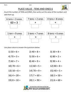 Free Place Value Worksheets To    School Time