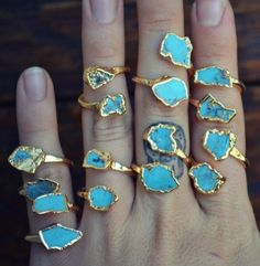 Blue pedraria de aneis size 9!