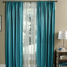 Polka Dots Blackout Window Single Curtain Panel