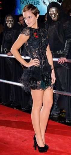 Possibly my favorite Em Watson outfit...and that Death Eater must like it too..