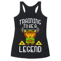 Training To Be A Legend Racerback