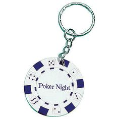 White Poker Chip Key Tag >> These charming key rings can also be used as napkins rings and double as party favors.