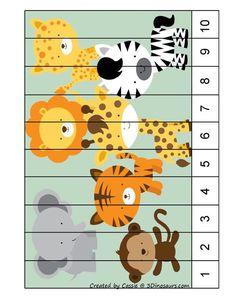 Preschool Both Teach Numbers … Preschool Learning Activities, Preschool Worksheets, Kindergarten Activities, Educational Activities, Toddler Activities, Preschool Activities, Kids Learning, Puzzle Montessori, Preschool Jungle