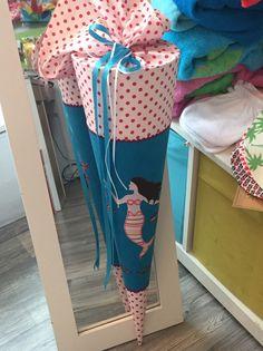 """Schultüten - Wunderschöne Schultüte aus Stoff  """"Meerjungfrau"""" - ein Designerstück von WOHNSINNIG-NAZLICAN bei DaWanda"""