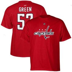 Mike Green Washington Capitals Reebok Name and Number Player T-Shirt – Red - $13.99