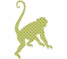 Antoinne the Monkey Peel & Stick Wall Appliques