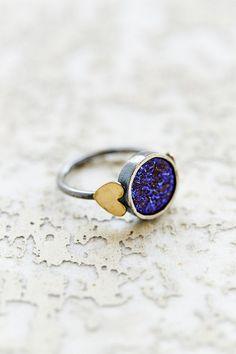Rachel Pfeffer Designs Druzy Sweetheart Ring