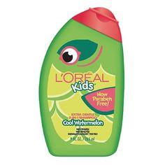 L'Oreal Kids 2 in 1 Shampoo, Extra Gentle, Burst of Watermelon 9 fl oz Loreal Shampoo, Male Pattern Baldness, Hydrate Hair, Baby Shampoo, L'oréal Paris, Fragrance Parfum, Wet Hair, Curly Hair