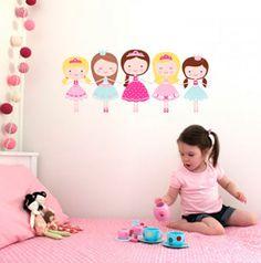 DECOILUZION - Pegatinas pared infantil Ballerinas