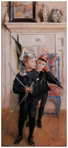 Ulf and Pontus - Carl Larsson