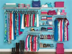 Although this is an ad for a $25 off coupon, I love this organizational tool for the closet....Rubbermaid Closet Kit