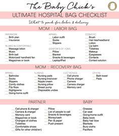 baby hospital bag checklist rugrats pinterest hospital bag
