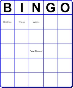 Make your own BINGO cards