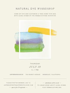 Tie-Dye Event - Jenna McBride : Graphic & Interactive Design - #anthropologie