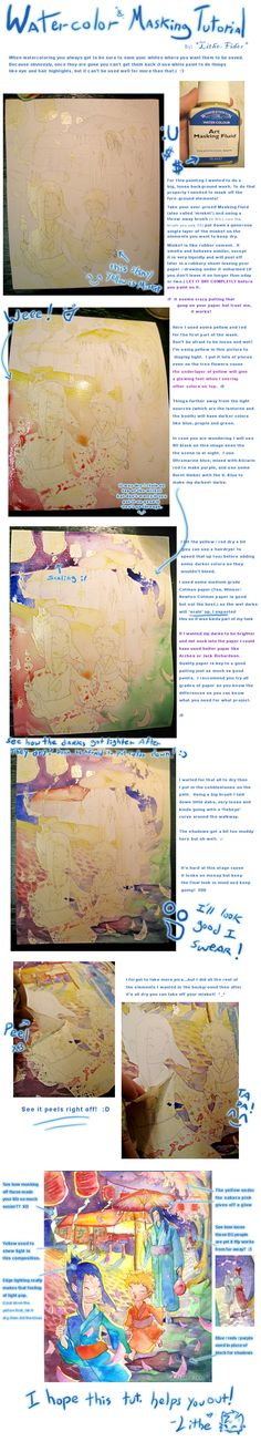 Watercolor Masking Tutorial by ~Lithe-Fider on deviantART