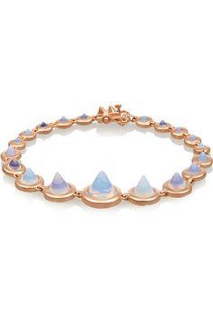 EDDIE BORGO Rose gold-plated pyramid bracelet