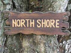 """North Shore"" Sign Driftwood 20"" - Tiki Bar Decor"
