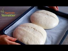 ABLAMIN EN GARANTİLİ VE KOLAY EKMEK TARİFİNİ YAPTIM ✅EVDE EKMEK NASIL YAPILIR 💯YUMUŞACIK EKMEK - YouTube Making Sourdough Bread, Bread Kitchen, Types Of Flour, Instant Yeast, Rolls Recipe, Bread Baking, Finger Foods, Food And Drink, Favorite Recipes