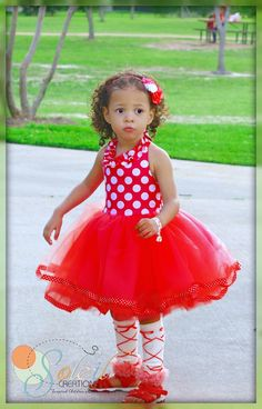 Minnie Mouse Birthday Dress Red by SoleilCreations on Etsy, $65.99