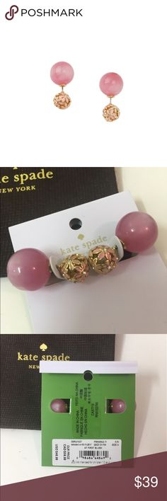 Kate Spade NWT At First Blush Reversible Earrings Kate Spade - NWT At First Blush Reversible / Double Sided Earrings; comes with dust bag. Makes the perfect gift or treat for yourself! Be sure to check out my closet for more items to bundle and save!!  kate spade Jewelry Earrings