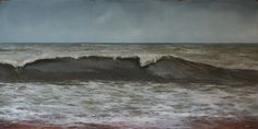 """Washed by the Water 24"""" x 48"""" oil on panel $4,000 (framed) Adam Hall"""