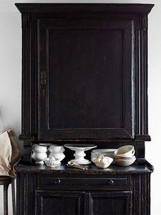 Antique Hutch in semi-black