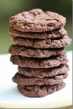 Vegan Double Chocolate Chunk Cookies (subs: coconut earth balance, coconut crystals, whole egg)