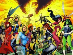 Women Of Marvel Comic by Alan Davis