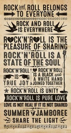 Rock'n roll belong to everyone