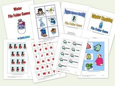 HUGE Set of 20 File Folder Games for January through March!