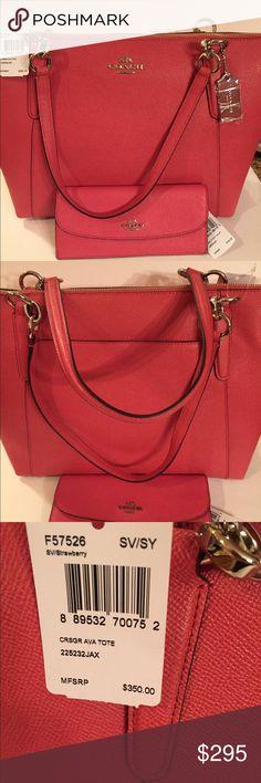 🆕Coach Pretty Pink Ava & Matching Wallet Coach Ava and matching Wallet Coach Bags Totes