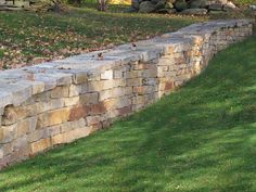 natural chilton stone retaining wall