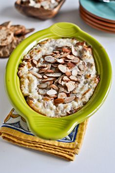 Toasted Almond Parmesan Dip.  Need I say more?  Another one perfect for Pampered Chef Mini Coquette! #gluten free #low carb if you have veggies instead of crackers to dip.
