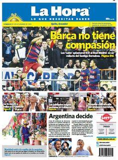 Este domingo presentamos nuestra portada para #Quito con el tema destacado: #Barca no tiene compasión.