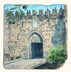 Lions Gate one of the eight gates of Jerusalem that leads into the old city