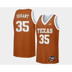 17eb2a745 Texas LongHorns  35 Kevin Durant Orange Road College Basketball Jersey