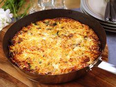 Frittata med spenat, lök och skinka (kock Lisa Lemke)